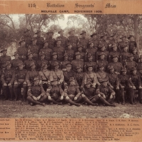 11th Battalion Sergeant's Mess - Melville Camp, November 1939