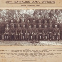28th Battalion Officers - Melville, December 1940